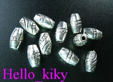 120Pcs Tibetan silver screw carved barrel spacer beads A88