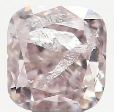 Natural Loose Diamond Cushion I2 Clarity Light Brown Pink Color 2.80MM KR54
