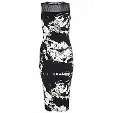 Calf Length Polyester Crew Neck Sleeveless Dresses for Women