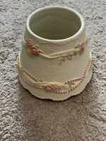 Yankee Candle Medium/Large Jar Shade Pink White Lace Pearls Roses