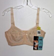 Vintage New Bali 34 C Sno Flake Bra Underwire Full Cover Beige Lace Discontinued