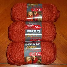 Bernat Softee Chunky Yarn Lot Of 3 Skeins (Pumpkin #28630)