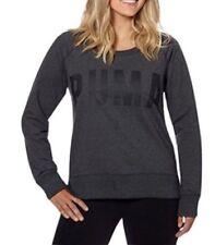 Puma Velour Womens Sweatshirt Velvet Crew Track Top Jumper Pink 853292 01 M5