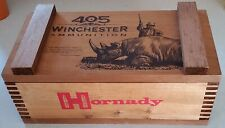 405 Winchester box Teddy Roosevelt wooden Hornaday ammo crate Only One On Ebay!