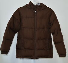 CHEROKEE Girl's Brown Hooded Puffer Jacket Size L 10/12