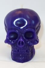 Purple Skull Candles, Handmade. Pagan / Gothic / Voodoo / Hoodoo / Halloween