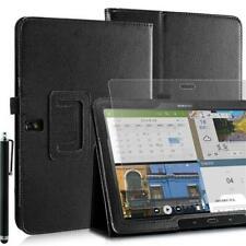 "Plegable Funda Tablet Para Samsung Galaxy Note Pro T520 Negro 10,1"" Pin + Lámina"