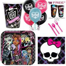 MONSTER HIGH BIRTHDAY PARTY SUPPLIES PLATES CUPS NAPKINS BALLOONS CUTLERY *Gift*