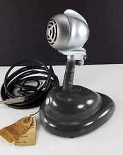 Vintage 1940′s Turner CD Dynamic Bullet Microphone w/ Shure S36 Stand and Cable