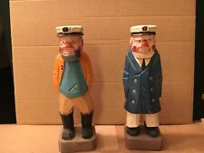 Hand Carved Boat Captain Figures 6�