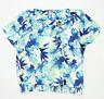 Debenhams Womens Size 18 Floral White Top (Regular)