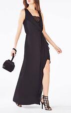 NWT BCBG Max Azria Koko lace inserts black blouson gown dress size 6 - $298