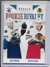 11-12 Rookie Anthology Hodgson/Kruger Rookie Rivalry Dual Jersey # 46