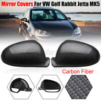 Fibra di Carbonio Laterale Lato Specchietto Retrovisore Cover Per VW Golf Rabbit