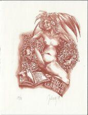 FRANCIS DIRIX: erotisches Eigen-Exlibris