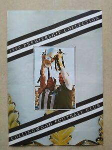Original 1990 Collingwood Premiership Collection Brochure/Price List
