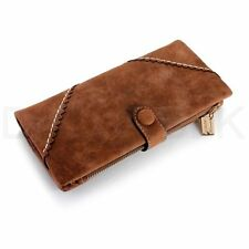 Porte-monnaie et portefeuilles marron organiseur en cuir pour femme