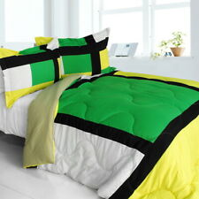 [Lush World] Quilted Patchwork Down Alternative Comforter Set (Twin Size)