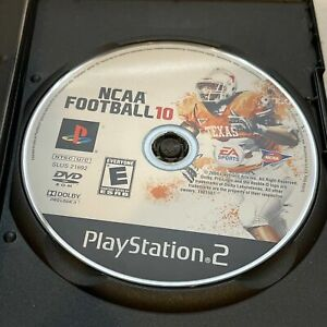 ncaa football 10 disc only playstation 2 tested working good