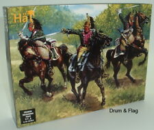 HAT 9009. NAPOLEONIC FRENCH DRAGOONS. 1/32 SCALE. 8 MOUNTED PLASTIC FIGURES