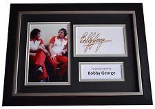 More details for bobby george signed a4 framed autograph photo display darts sport aftal coa