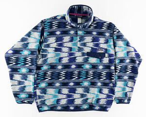 Patagonia Mens Large Synchilla Pullover T Snap Fleece Wave Tribal Southwest