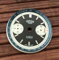 Arsa schwarzes Ziffernblatt für ETA Valjoux 7733 swiss made Uhrwerk - neu