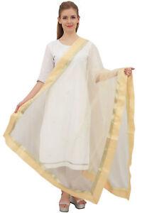 Phagun Indische Designer Net Dupatta Stahl Lange Frauen Hijab Schal Wurf