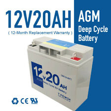 Brand NEW 12V 20AH AGM Deep Cycle Rechargeable Battery Solar Scooter Golf Buggy
