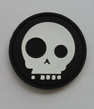 3D SKULL RUBBER TACTICAL HOOK PATCH. - UK Seller.