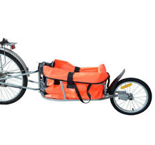 New Steel Bicycle Bike Cargo luggage Trailer One Wheel Cart Carrier For Shopping