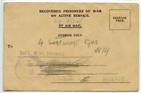 GB WWII 1945.9.7 Formula card RECOVERED PRISONERS OF WAR OAS ex Japanese POW