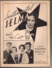 Sentimental Selma 1935 Hollywood Mask Cosmetics Advertising Sheet Music