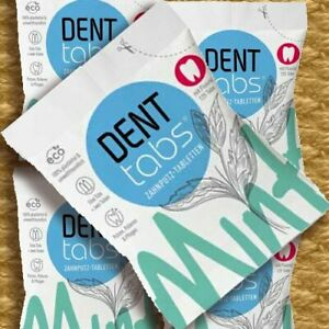 Denttabs Zahnputztabletten mit Fluorid 125 ST Naturkosmetik Zahnweiß Zahnpolitur