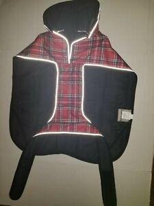 Petrageous Kodiak Dog Coat XXL Waterproof with Polycotton Lining Red Plaid NWT