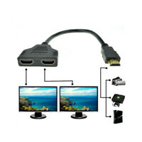 1080P HDMI Port Male to 2 Female1 In 2 Out  Converter Splitter Cable Adapter