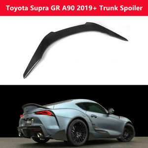 Fit Toyota Supra GR A90 Coupe 2019+ Real Carbon Fiber Trunk Spoiler Rear Wing