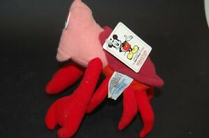 DISNEY WORLD Sebastion - The Little Mermaid Stuffed Animal Plush Toy Red Crab