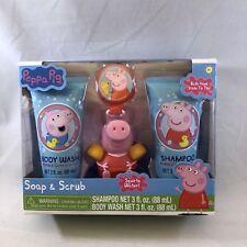 Peppa Pig Soap Scrub Kids Shampoo and Body Wash Bath Set 4 pieces Easter Basket