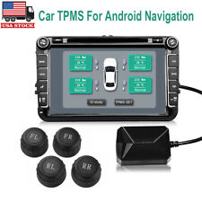 Car TPMS Tire Pressure Monitor Alarm System 4 External Sensor for Android MA1906