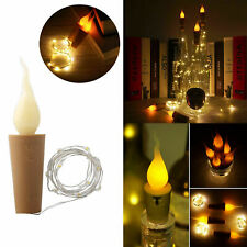 20LEDs Candle Cork Shaped LED Copper Wire String Lights Wine Bottle Deco Lamp 2M