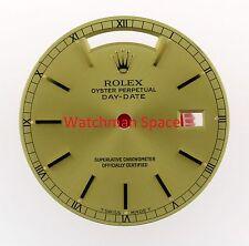Original Men's Rolex Day-Date 18238, 18038 Champagne Stick 18KY #L61