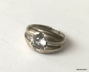 Vintage Ring MARKED ESPO 925 STERLING SILVER Size 10 CZ Joseph Esposito lot i