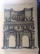 VERONA, ARCO DI TITO   Mortier Panvinio .Architettura 1704