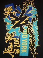 Black Zoo York Skull & Crossbones T Shirt M Free US Shipping