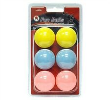 Butterfly MK Fun 6 Pack Ping Pong Balls / Table Tennis with FREE Shipping