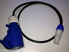 ProIEC Neutrik PowerCON NAC3FCB TO 16A AMP 240V Coupler 1.2M Lead Black Cable