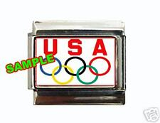 USA Olympic Logo #1 Custom Italian Charm Olympic Rings!