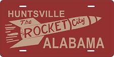 Red Rocket City Huntsville Rocket Madison Alabama License Novelty Car Plate