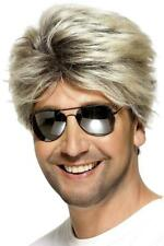 Smiffy's Men's 80's Street Wig Short and Straight One Size, Blonde